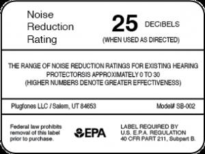 EPA Noise Reduction Rating Label